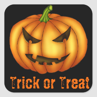 Trick or Treat Eerie Pumpkin Sticker