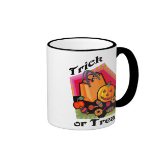 Trick or Treat Family Friendly Pumpkin & Candy Coffee Mug