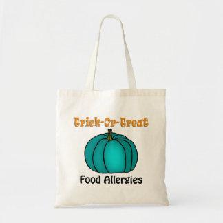 """""""Trick-Or-Treat!"""" Food Allergy Teal Pumpkin 4 Tote Bag"""