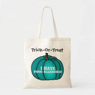 """""""Trick-Or-Treat!"""" Food Allergy Teal Pumpkin Tote Bag"""