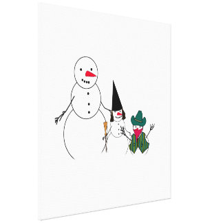 Trick or Treat From the Halloween Snowmen Canvas Print
