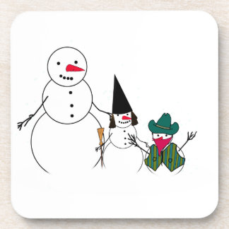 Trick or Treat From the Halloween Snowmen Coasters