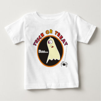 Trick or Treat Funny Ghost Baby Creepers Tshirts
