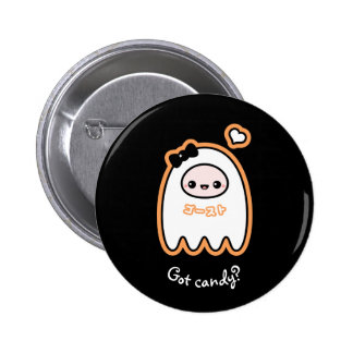 Trick or Treat Ghost 6 Cm Round Badge