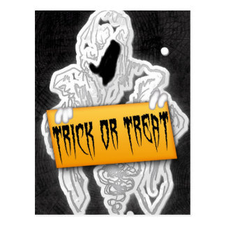 Trick or Treat Ghost Customizable Postcard