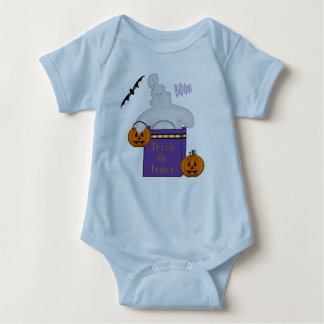 Trick Or Treat Ghost In Bag Baby Bodysuit