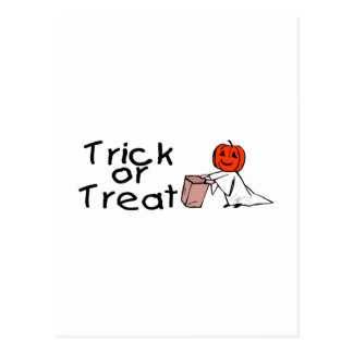 Trick or Treat Ghost Postcards