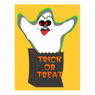Trick-or-Treat Ghost Postcards