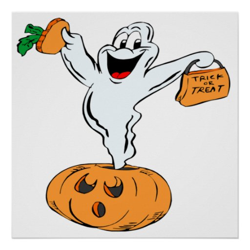 Trick Or Treat Ghost Poster