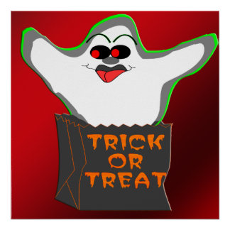 Trick-or-Treat Ghost Poster
