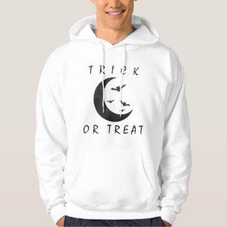 Trick Or Treat Halloween Bats Crescent Moon Hoody
