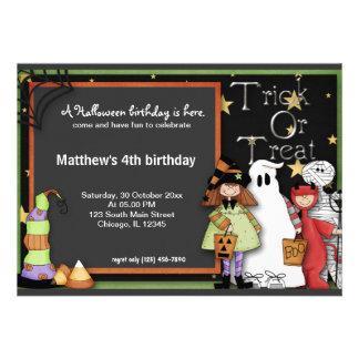 Trick or Treat Halloween Birthday Invitation