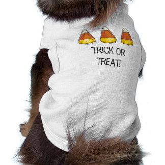Trick or Treat Halloween Candy Corn Pet Tee