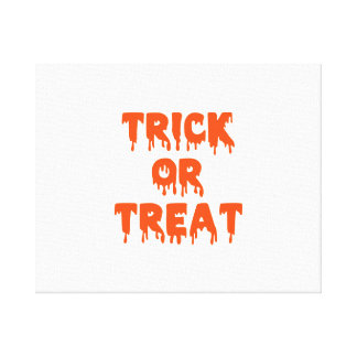Trick or treat halloween stretched canvas print