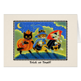 Trick or Treat? Halloween Cat Notecard Note Card