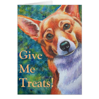 Trick or Treat Halloween Corgi Card