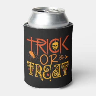 Trick or Treat Halloween custom can cooler