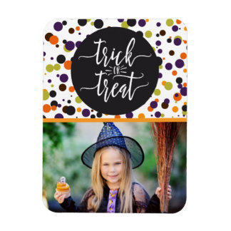 Trick or Treat Halloween Custom Personalized Photo Rectangular Photo Magnet