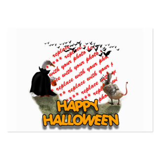 Trick or Treat Halloween Ducks Photo Frame Business Card