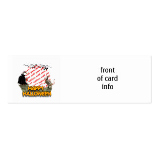 Trick or Treat Halloween Ducks Photo Frame Business Card Template