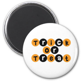 Trick or Treat Halloween Fun 6 Cm Round Magnet