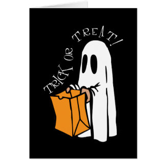 Trick or Treat Halloween Ghost Greeting Card