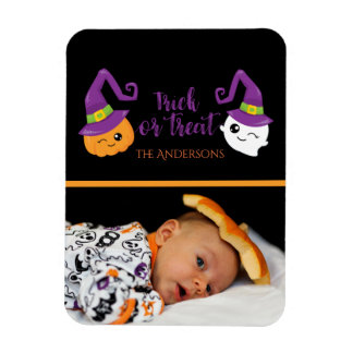 Trick or Treat Halloween Ghost & Jack-o-Lantern Magnet