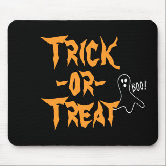 Trick-or-Treat Halloween Ghost Saying Boo Mouse Pad