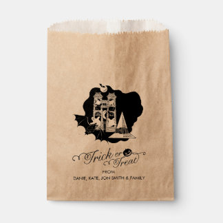 Trick or Treat Halloween Haunted House Favour Bags