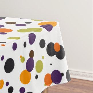 Trick or Treat Halloween Modern Polka Dots Tablecloth