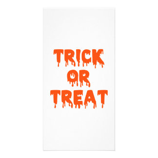 Trick or treat halloween photo card template