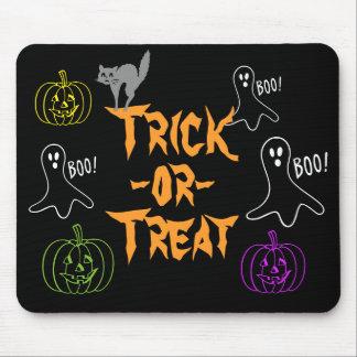 Trick-or-Treat Halloween Pumpkin Ghost Cat Mouse Mat