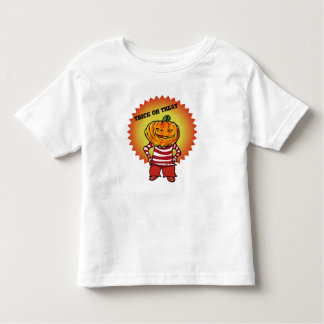 trick or treat halloween pumpkin head cartoon toddler T-Shirt