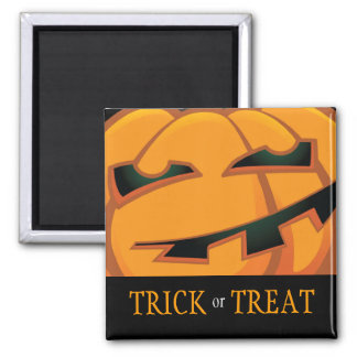 Trick or Treat Halloween Pumpkin Square Magnet