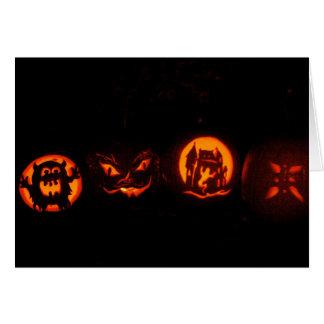 Trick or Treat  Halloween Pumpkins Card