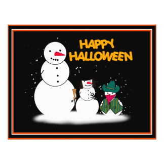 Trick or Treat Halloween Snowmen Flyers