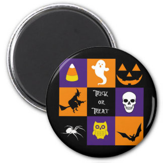Trick or Treat Halloween Themes 6 Cm Round Magnet