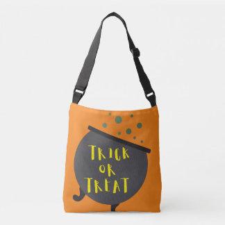Trick or Treat Halloween Witch Cauldron Crossbody Bag