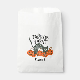 trick or treat happy halloween party favor bags