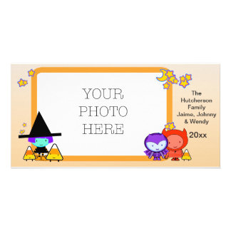 Trick Or Treat Kids in Halloween Frame - Picture Card