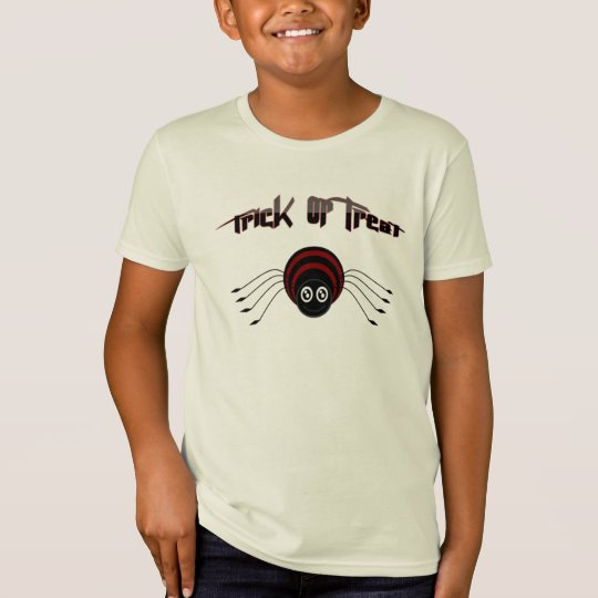 Trick or treat kids Shirt and cute spider