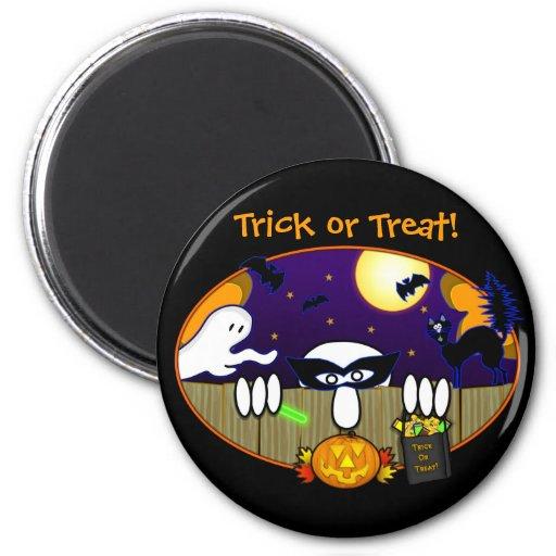 Trick Or Treat  Kilroy Magnet