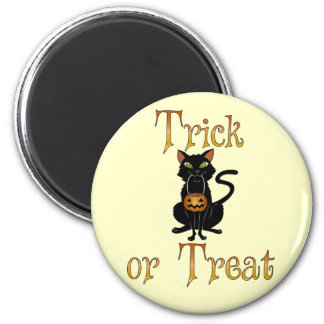 Trick or Treat Kitty 6 Cm Round Magnet