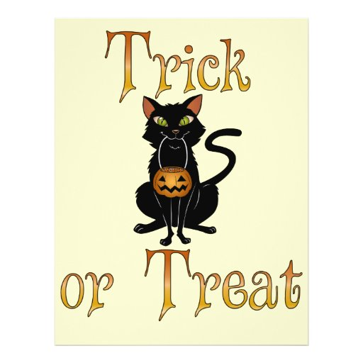 Trick or Treat Kitty Personalized Flyer