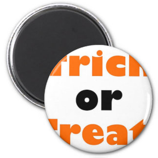 Trick or treat refrigerator magnet