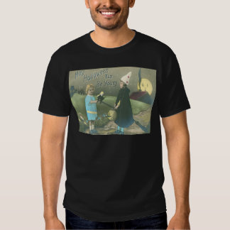 Trick Or Treat Man In The Moon Black Cat Tee Shirts