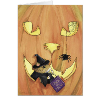 Trick or Treat Mouse, Halloween Card