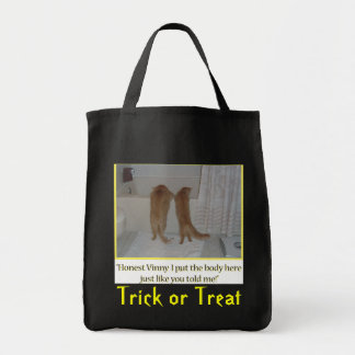Trick or Treat Orange Tabby Cats Grocery Tote Bag
