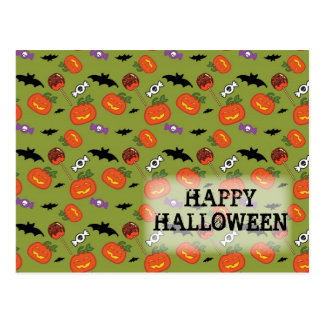 Trick or treat pattern post cards