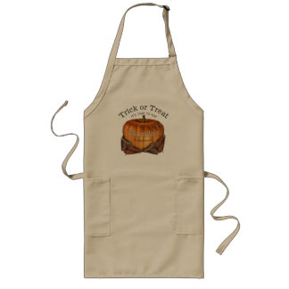 Trick Or Treat Personalized Pumpkin Long Apron